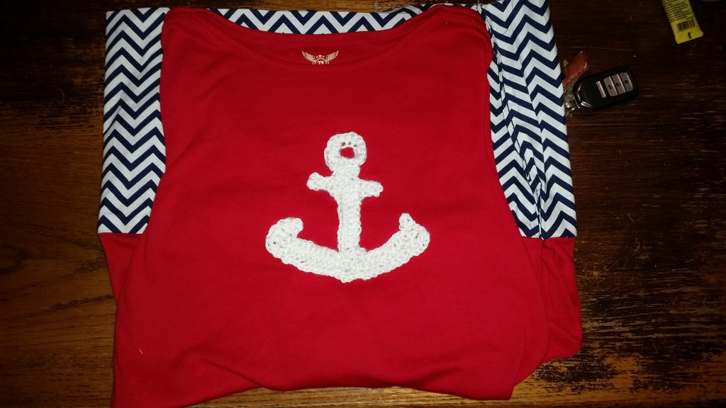 crochet anchor applique