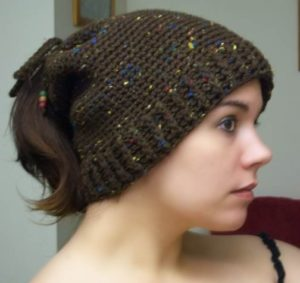 Free Crochet Pattern Ponytail Hat : Free Crochet Ponytail Hat Pattern