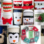 Christmas Crochet Coffee Cozy Pattern Round Up
