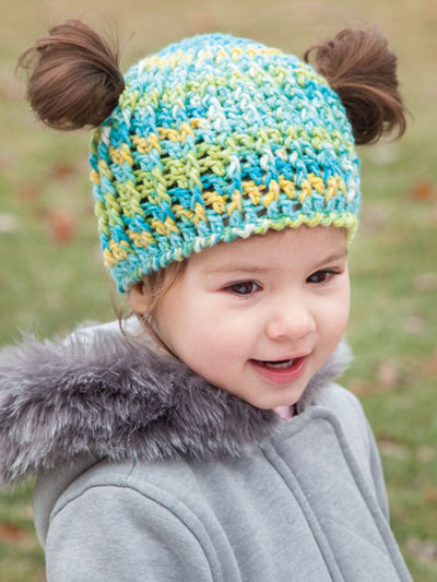 pattern for crochet pigtail hat