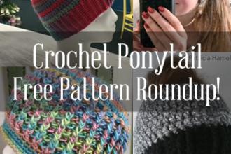 Crochet ponytail hat pattern free