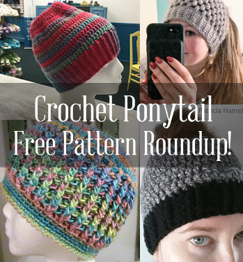 Free Crochet Ponytail Hat Pattern