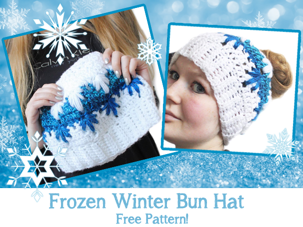 Frozen Winter Crochet Hat With Ponytail Hole Pattern – Yarn Ballin  16c59ebffd67