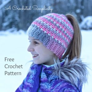 easy messy bun beanie pattern