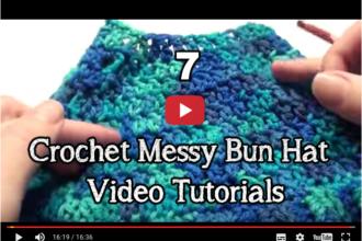 crochet messy bun video pattern