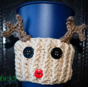 crochet reindeer crochet cozy