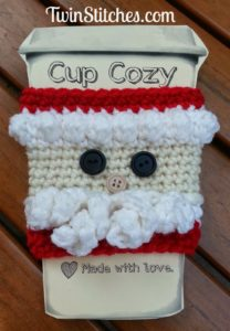 cozy cup crochet santa pattern