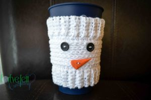 crochet snowman coffee cozy pattern