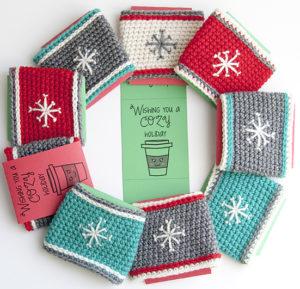 snowflake cup cozy