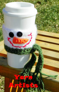 coffee cup crochet wrapper