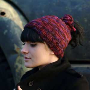 ponytail hat knit pattern
