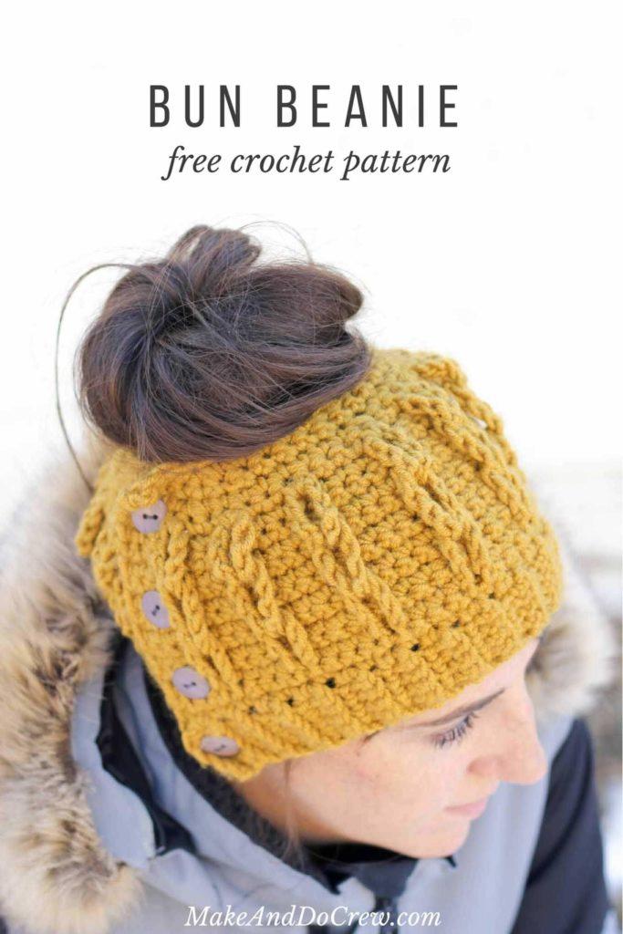 Free Crochet Messy Bun Pattern Roundup
