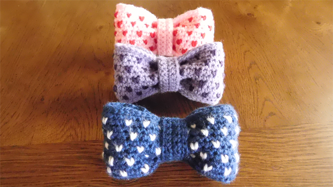 crochet hair bow pattern free