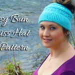Free Crochet Ponytail Hat Pattern · Katniss Messy Bun Hat Pattern 69de35f5003
