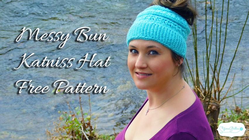 crochet messy bun katniss pattern