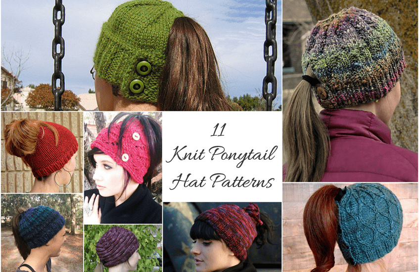 cbab7590f9b84 Knit Hat With Ponytail Hole