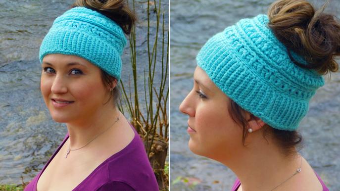 Katniss-inspired Messy BunPonytail Hat