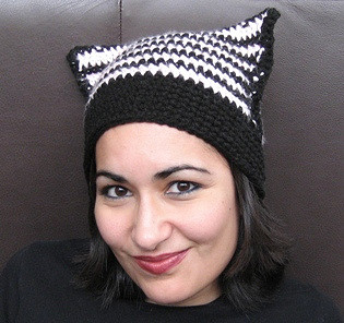 crochet cat ear hat pattern