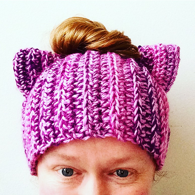 crochet cat beanie pattern
