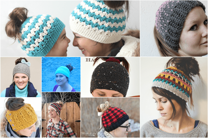 Free Crochet Messy Bun Pattern Roundup