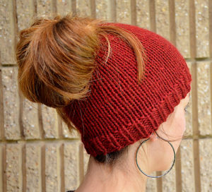 knit messy bun pattern