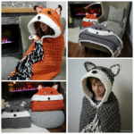 Crochet Hooded Fox Blanket Pattern