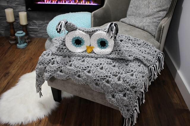 Crocheted owl blanket pattern