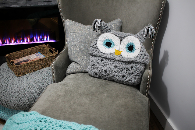 Chrochet hooded owl throw pattern