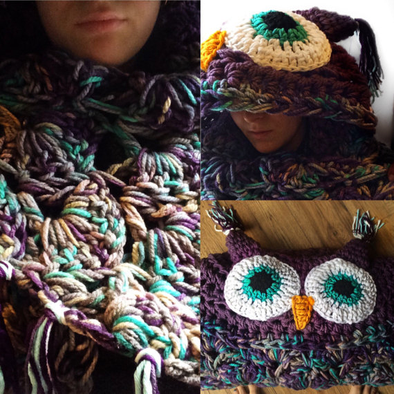 hooded owl throw