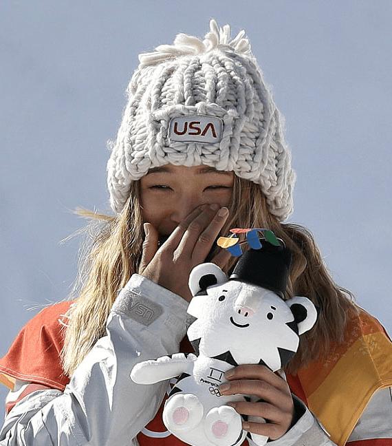 chloe kim olympic hat