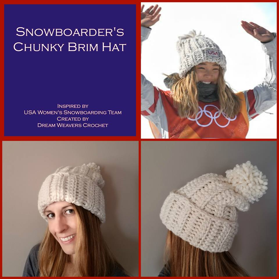 The above hat is designed by Sara Lee behind Dream Weavers Crochet and is  called the Snowboarder s hat. She wrote up this pattern and graciously  offered it ... 76fb2063944