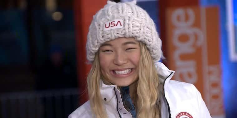 chloe kim's olympic hat