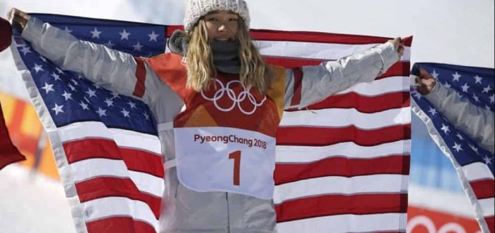 chloe kim's knit olympic hat