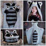 Crochet Raccoon Hooded Blanket Pattern